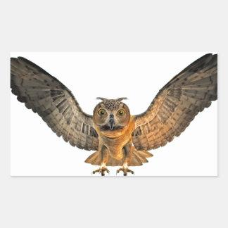 Eagle Owl Rectangular Sticker