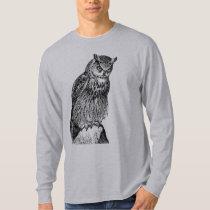 Eagle Owl Vintage Wood Engraving T-Shirt