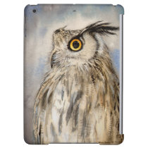 Eagle Owl Watercolor Wildlife Art Case For iPad Air