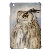 Eagle Owl Wildlife Painting by Molly Harrison Case For The iPad Mini