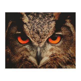 Eagle Owl Wood Wall Decor