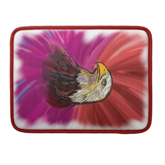 Eagle painting with abstract background sleeve for MacBook pro