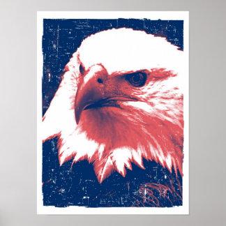 Eagle patriótico - arte del Grunge Posters