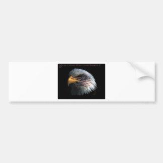 Eagle patriótico con el fondo de la bandera pegatina de parachoque