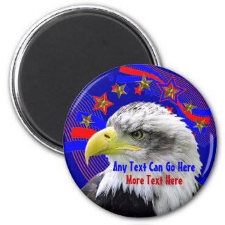 Eagle patriótico e imán de las estrellas del oro