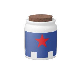 Eagle patriótico jarra para caramelo