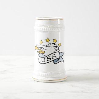 Eagle patriótico jarra de cerveza