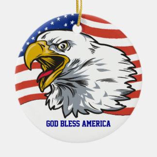Eagle patriótico ornato
