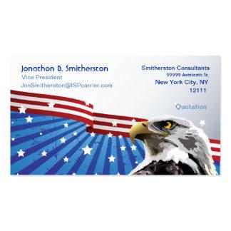 Eagle patriótico plantilla de tarjeta de negocio