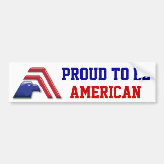 Eagle patriótico Stripes_Proud a ser americano Pegatina De Parachoque