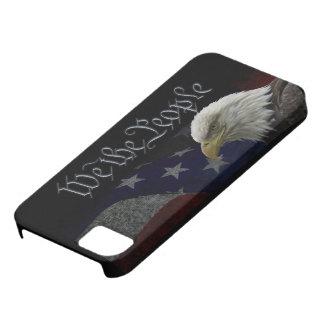 Eagle patriótico y bandera iPhone 5 protector