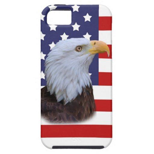 Eagle patriótico y el iPhone 5 de la bandera de lo iPhone 5 Case-Mate Cárcasa