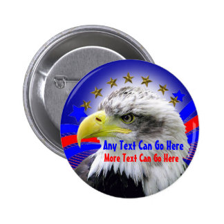 Eagle patriótico y Pin redondo del botón de las es