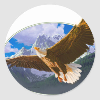 eagle.pdf classic round sticker