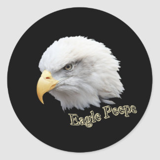 Eagle Peeps Classic Round Sticker