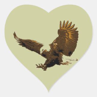 Eagle Pegatina En Forma De Corazón