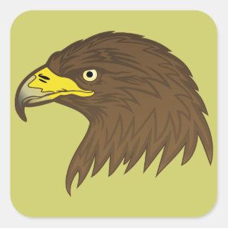 Eagle Pegatina Cuadrada