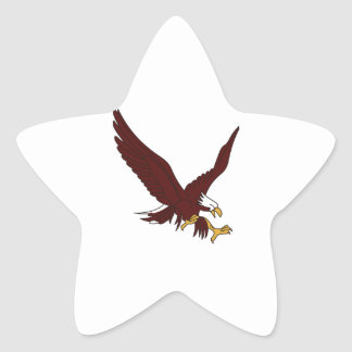 Eagle Pegatina En Forma De Estrella
