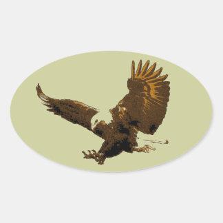 Eagle Pegatina Ovalada
