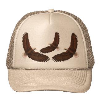 Eagle pintado gorros bordados