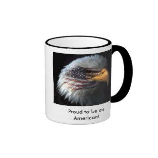 ¡Eagle pintado, orgulloso ser un americano! taza