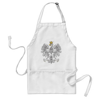 Eagle polaco con la corona del oro delantales