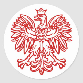 Eagle polaco pegatina redonda