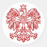 Eagle polaco pegatinas redondas