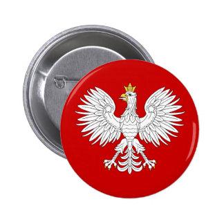 Eagle polaco pin redondo de 2 pulgadas