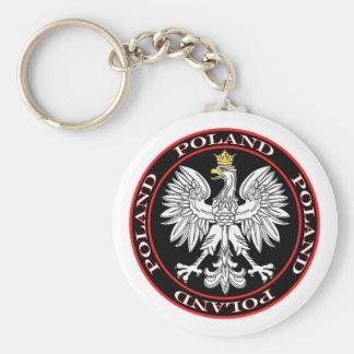 Eagle polaco redondo llaveros