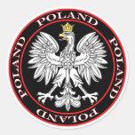 Eagle polaco redondo pegatina