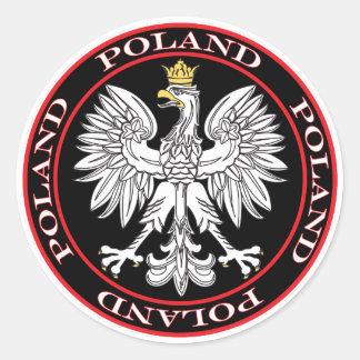 Eagle polaco redondo pegatina redonda