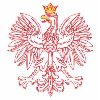 Eagle polaco resumido en rojo escultura fotográfica