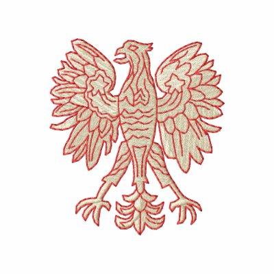 Eagle polaco sudadera bordada con capucha