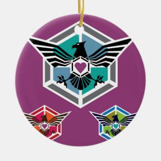 Eagle polygon Logo vector Ceramic Ornament