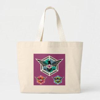 Eagle polygon Logo vector Large Tote Bag