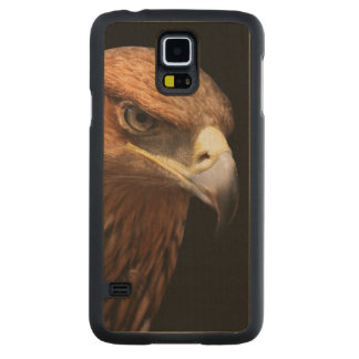 Eagle portrait isolated on black carved® maple galaxy s5 slim case