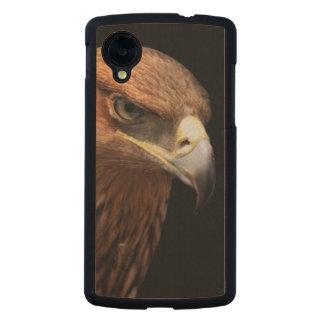Eagle portrait isolated on black carved® maple nexus 5 slim case