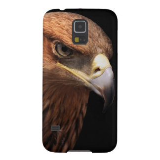 Eagle portrait isolated on black case for galaxy s5