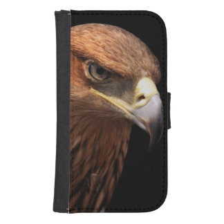 Eagle portrait isolated on black galaxy s4 wallet case