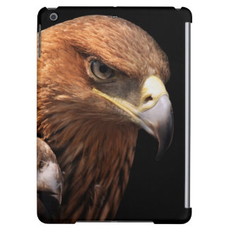 Eagle portrait isolated on black iPad air cover