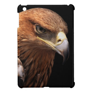 Eagle portrait isolated on black iPad mini case