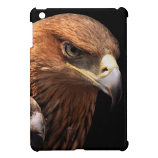 Eagle portrait isolated on black iPad mini covers