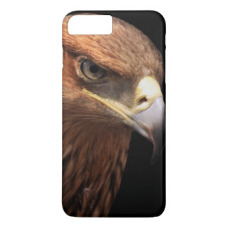 Eagle portrait isolated on black iPhone 8 plus/7 plus case