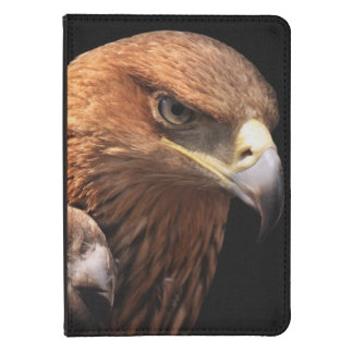 Eagle portrait isolated on black kindle touch cover