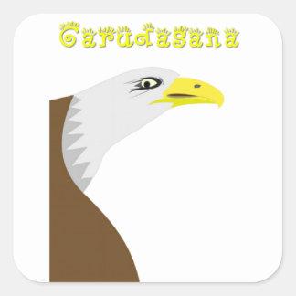 Eagle Pose Square Sticker