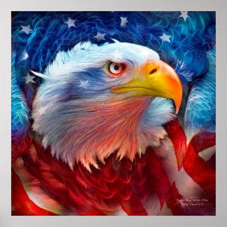 Eagle - poster/impresión azules blancos rojos de l