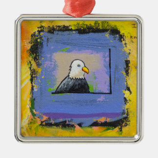 Eagle power knowledge recovery survivor unique art ornament