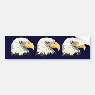 Eagle Profile Bumper Sticker