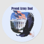Eagle Proud Army Dad Tshirts and Gifts Classic Round Sticker